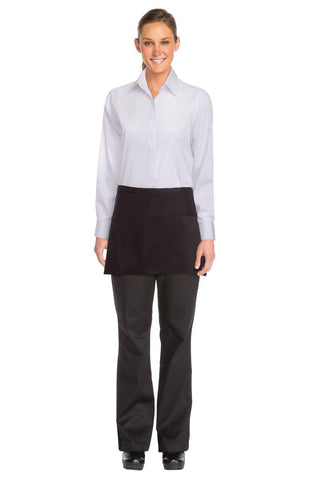 Three Pocket Black Waist Apron F9-BLK