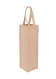 Jute Wine Bag - 1 Bottle - JT-WINE-1 Plain Bag