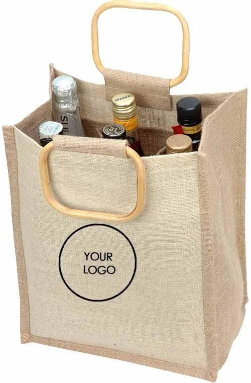 Jute Wine Bag - 6 Bottle J12