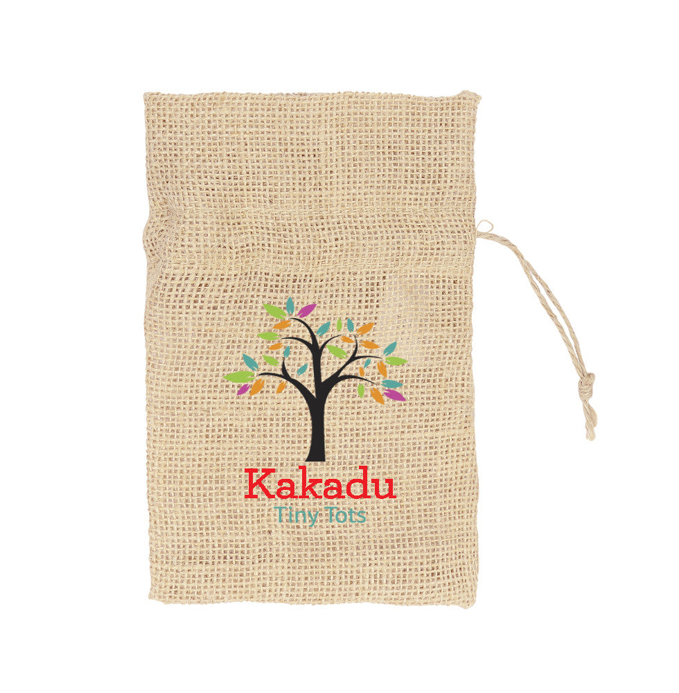 Printed Jute Small Pouch