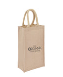Jute Wine Bag - 2 Bottle - JT-WINE-2 In Stock