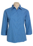Ladies Micro Check 3/4 Sleeve Shirt BCLB8200