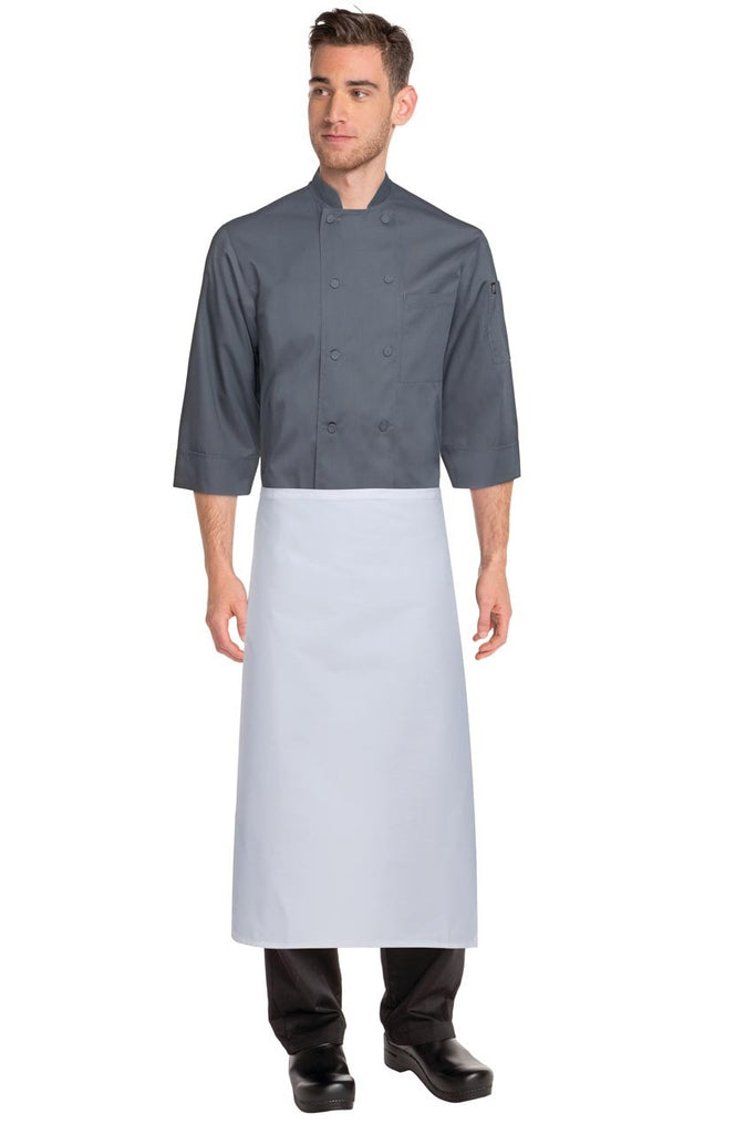 White Tapered Apron No Pocket  LCBA