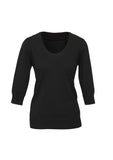 Black Ladies 80/20 Wool-Rich Pullover For Sale