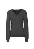 Charcoal Branded Ladies V-Neck Pullover
