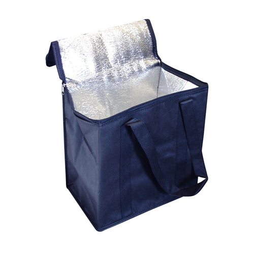 Blue Non Woven Promotional Cooler Bag With Zipped Lid