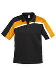 Black/Gold/White Mens Velocity Polo In Stock