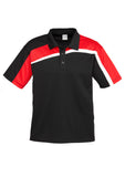 Black/Red/White Mens Velocity Polo In Stock