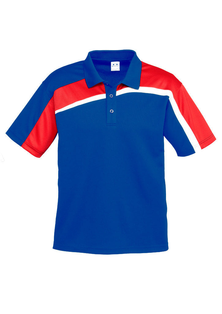 Royal/Red/White Mens Velocity Polo In Stock