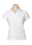 White Printed Ladies Neon Polo