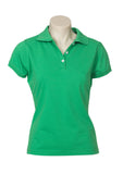 Green Printed Ladies Neon Polo