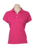 Magenta Printed Ladies Neon Polo