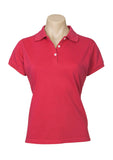 Red Printed Ladies Neon Polo