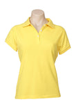 Yellow Printed Ladies Neon Polo
