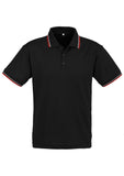 Black/Red/White Personalised Mens Cambridge Polo