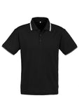 Black/White/White Personalised Mens Cambridge Polo