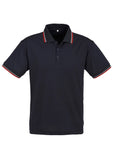 Navy/Red/White Personalised Mens Cambridge Polo