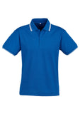 Royal/White/White Personalised Mens Cambridge Polo