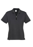 Graphite/Black Ladies Heritage Polo With Logo