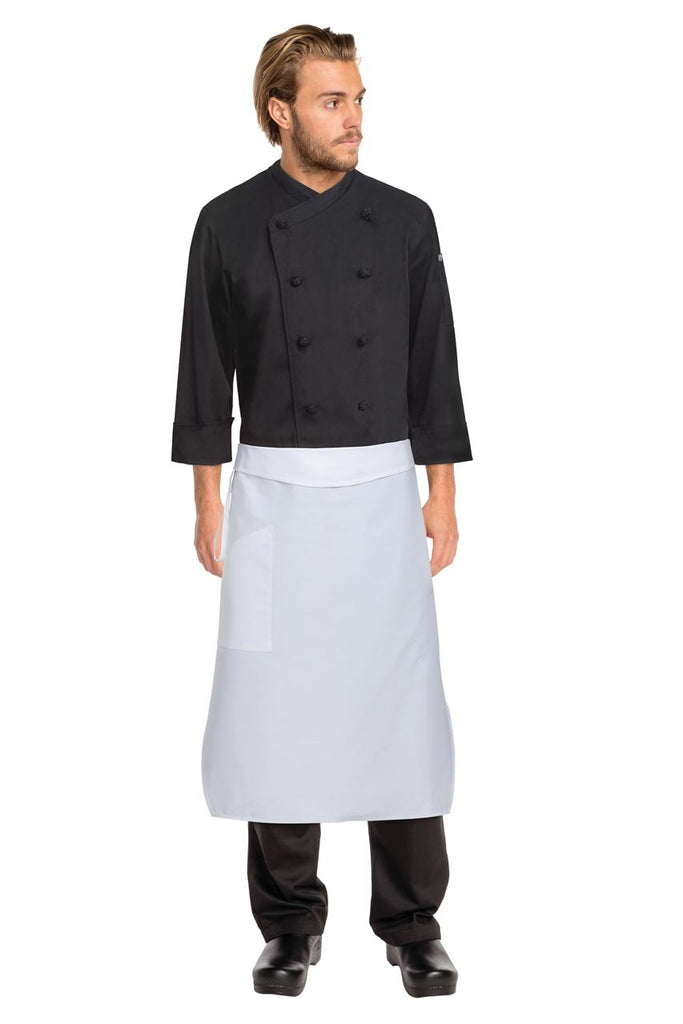 White Tapered Apron W/ Flap PCTA