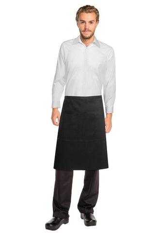 Black Reversible 3/4 Apron REVF24