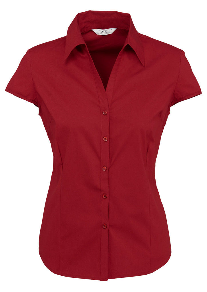 Ladies Metro Cap Sleeve Shirt BCS119LN