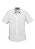 Black Mens Signature Short Sleeve Shirt With Logo
