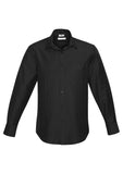 Black Mens Preston Long Sleeve Shirt With Logo