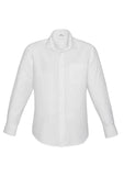 White Mens Preston Long Sleeve Shirt With Logo