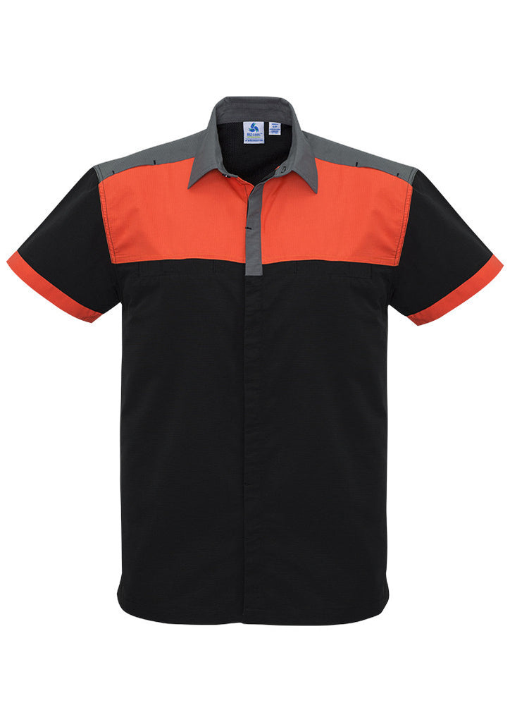 Black/Fluoro Orange/Grey Mens Charger Shirt Wholesale