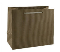 Coloured Striped Kraft Paper Bag - Biege Mini btq SIBE