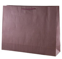 Coloured Striped Kraft Paper Bag - Purple Large btq SIPULB