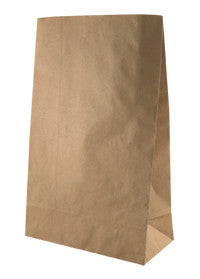 Flat Bottom Brown Kraft Paper Bag - Supermarket Small SUP1