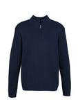 Navy  Custom Mens 80/20 Wool-Rich Pullover