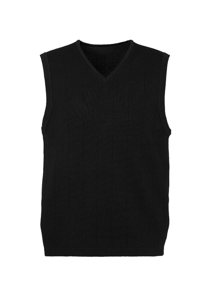 Balck Promotional Mens 80/20 Wool-Rich Vest