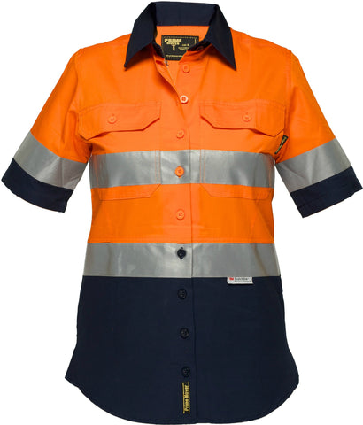 Ladies Lightweight Cotton Drill Shirt - LWS8009A