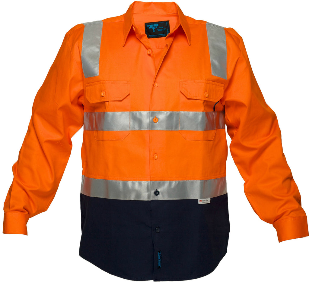 Buy Orange Hi Vis Cotton Drill Shirt