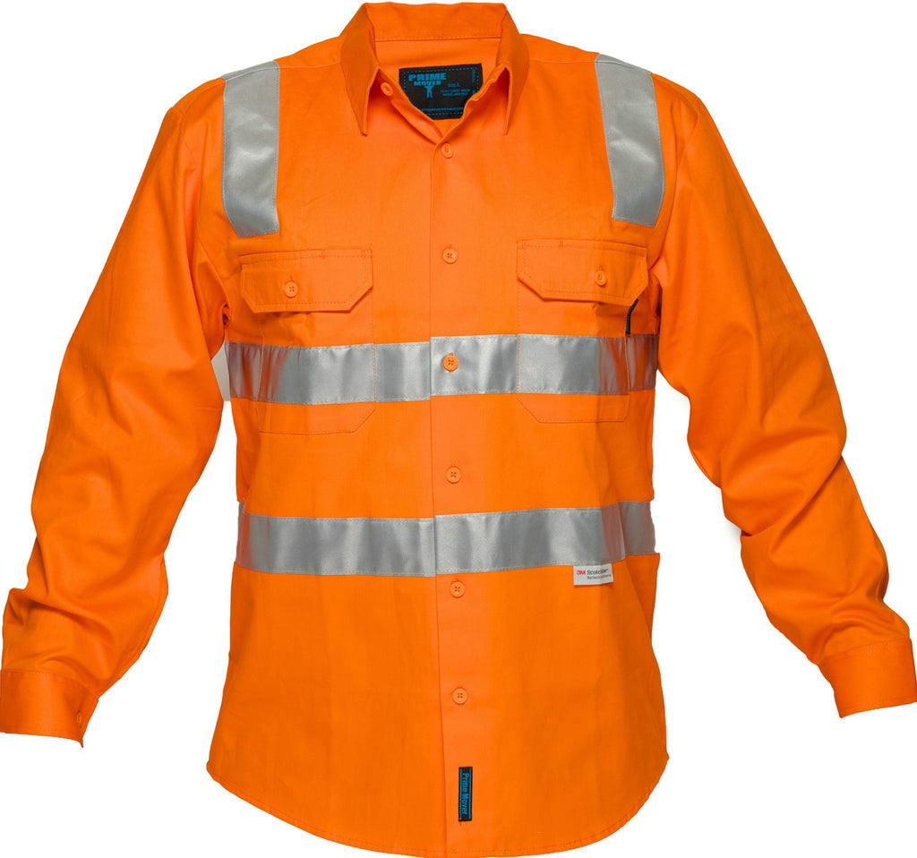 Hi Vis Cotton Drill Shirt For Sale