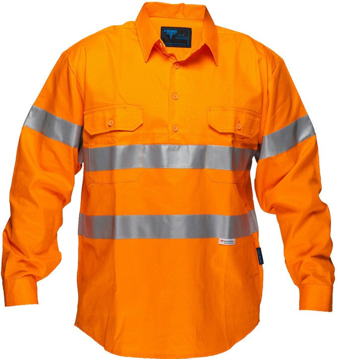 Custom Hi Vis Cotton Drill Shirt