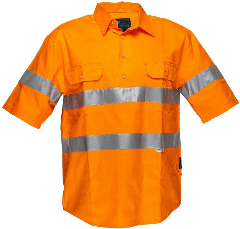 Solid Orange regular Cotton Shirt - WW1902AC