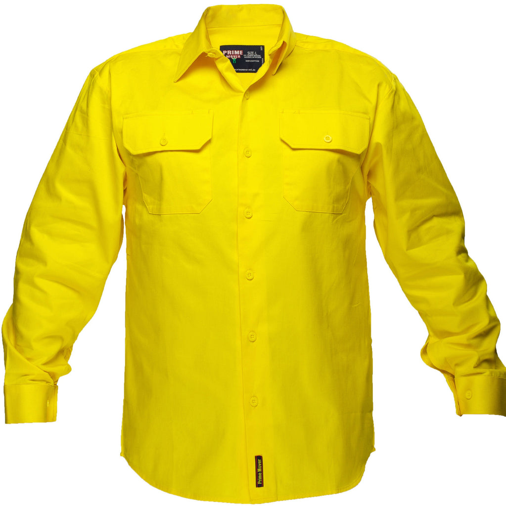 Hi Vis Cotton Drill Shirt - WW988