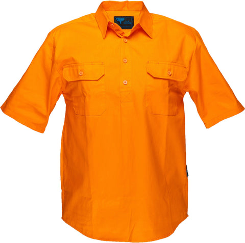 Solid Orange regular Cotton Shirt - WW989C