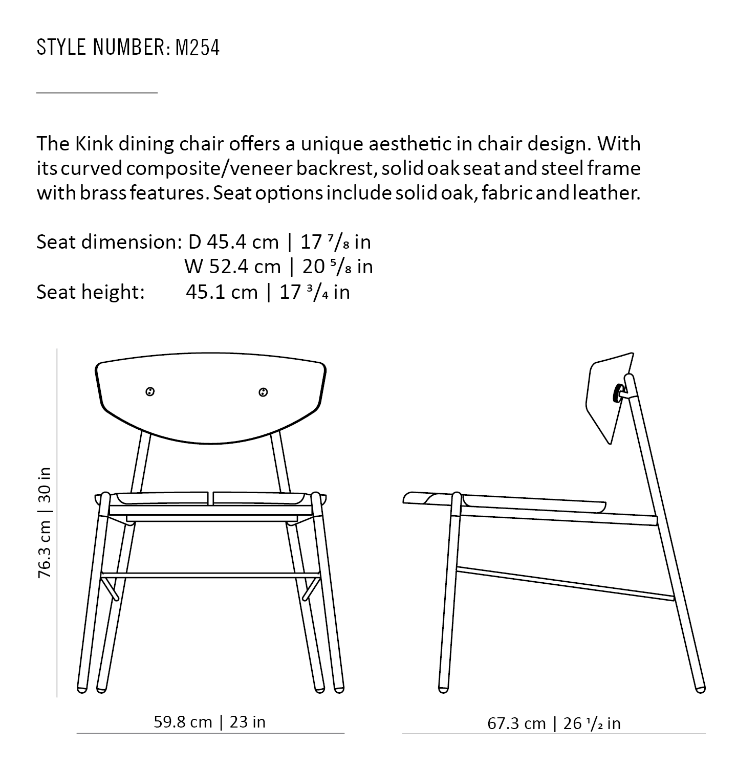 KINK DINING CHAIR – District Eight