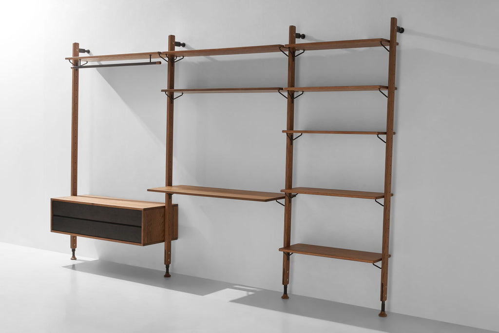 Theo Wall Unit Clothing Rail With Drawer