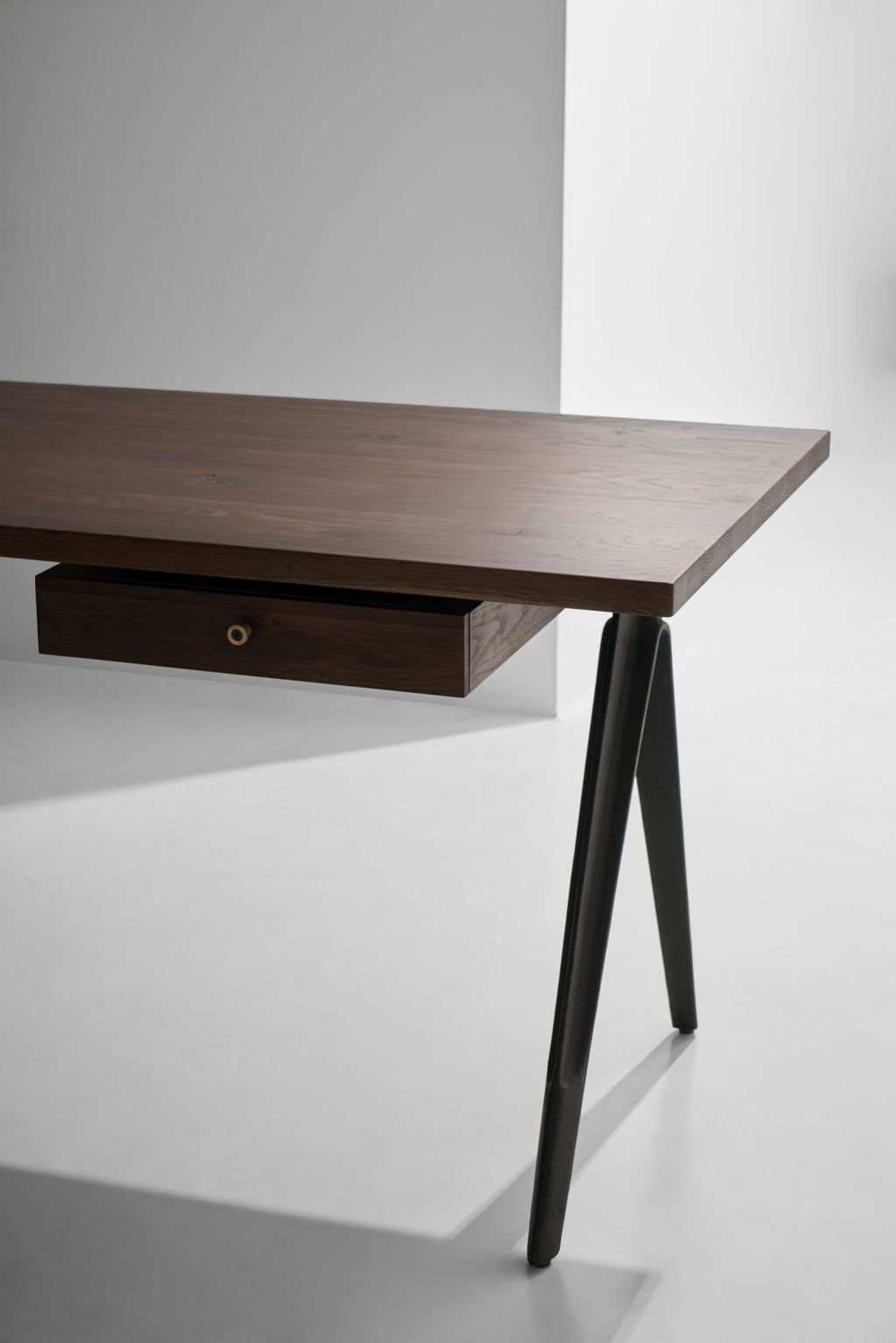 Compass Desk Single Drawer