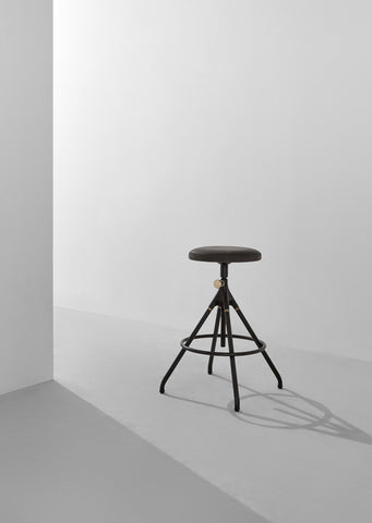 Akron Counter Stool With Leather Seat