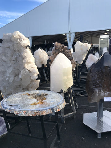 crystals at the tuscon gem show