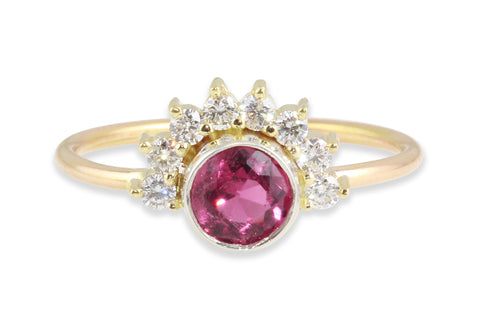 pink tourmaline ring by Amanda K Lockrow