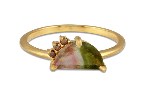 watermelon tourmaline ring by Amanda K Lockrow
