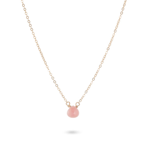 pink opal necklace by Amanda K Lockrow
